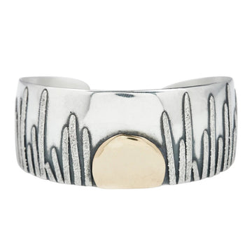 Moonrise Cuff - Sterling Silver + 14k Gold