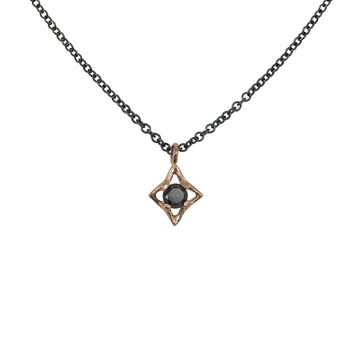 Mixed Metals Celestial Star Necklace