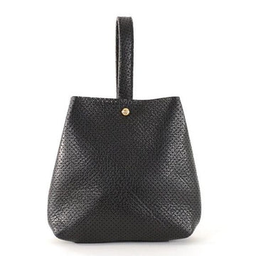 Coco Bracelet Bag - Black Perforated