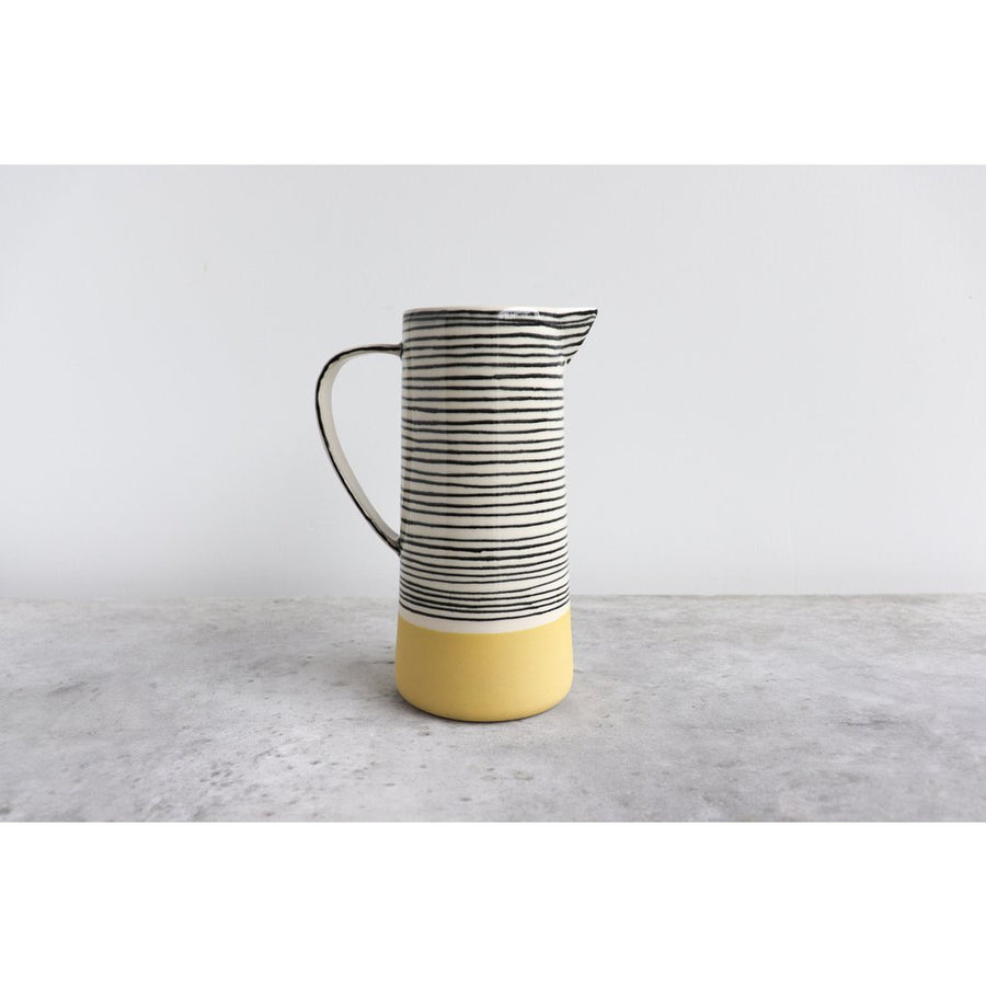 Large Striped Pitcher  - Ceramics
