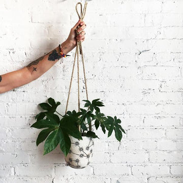 Hanging Planter: Constellations
