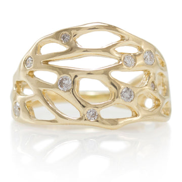 North Coast Crown Ring In 14k Gold With Diamonds