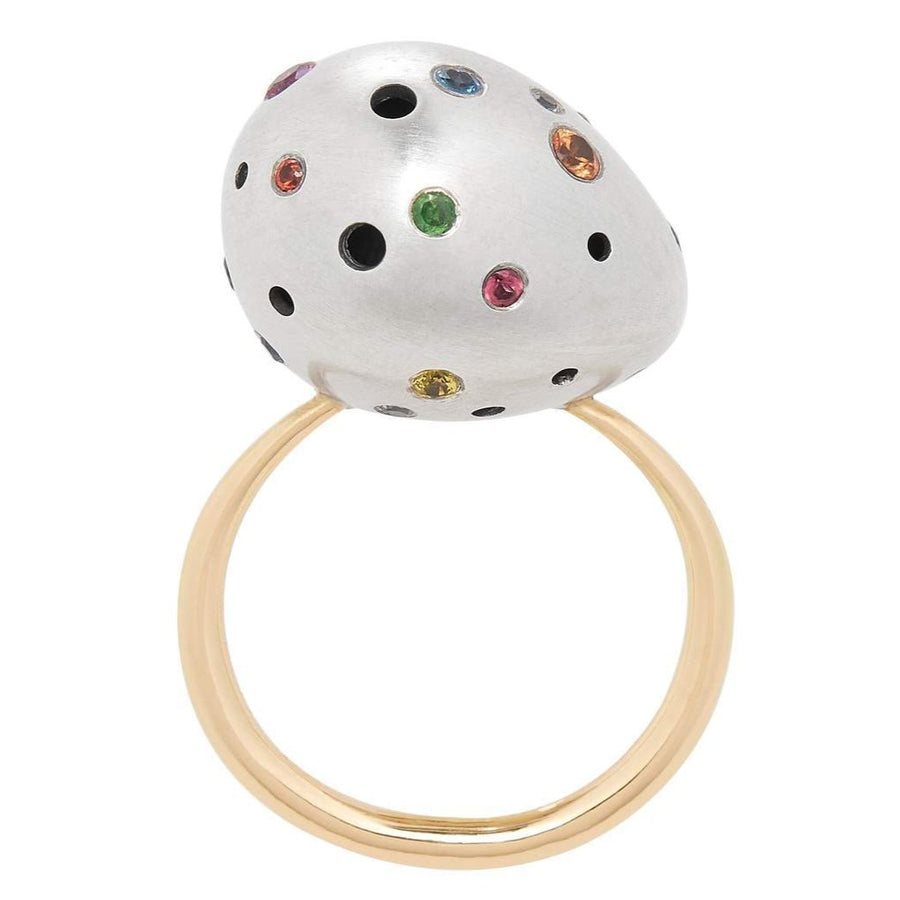 Rainbow Speckled Egg Ring