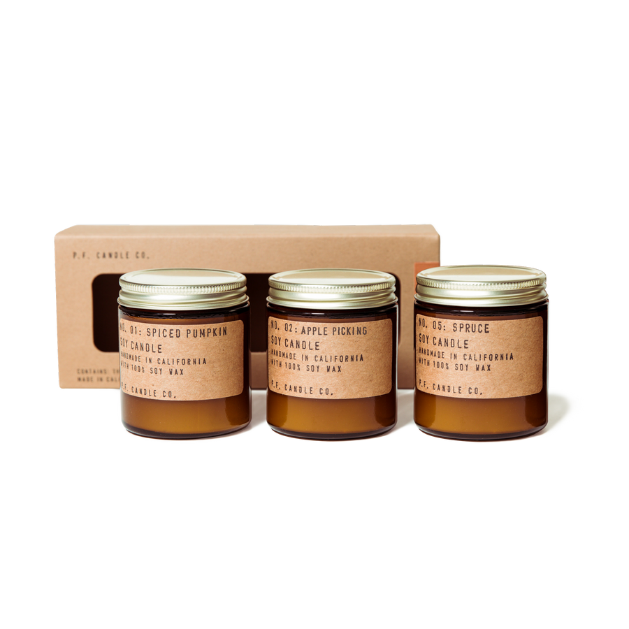 P.F. Candle Co - Seasonal Classics Mini Candle Gift Set