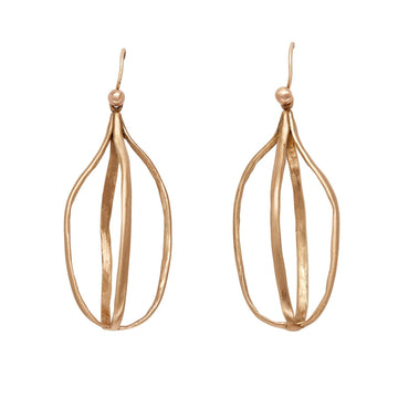 Birdcage Bronze Earrings