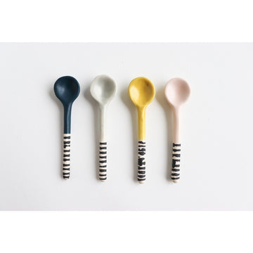 Small Striped Spoon - Ceramics