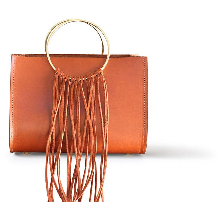 Sienna Mini Bag In Chestnut With Gold Chain Strap