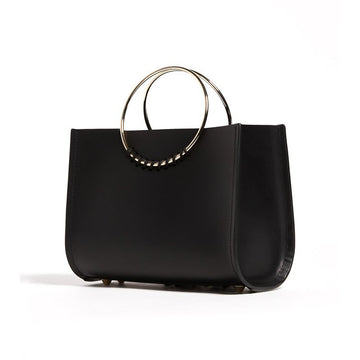 Sienna Mini Bag In Noir With Wide Leather
