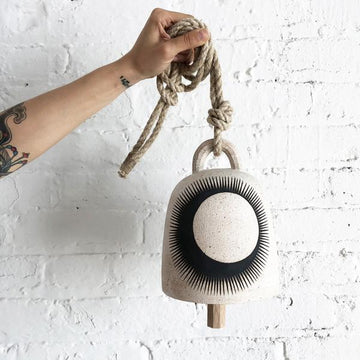 Round Thrown Bell: Black Crescent Eclipse - Medium