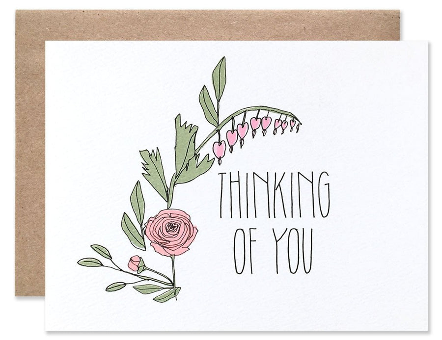 Thinking Of You Floral Rose Card