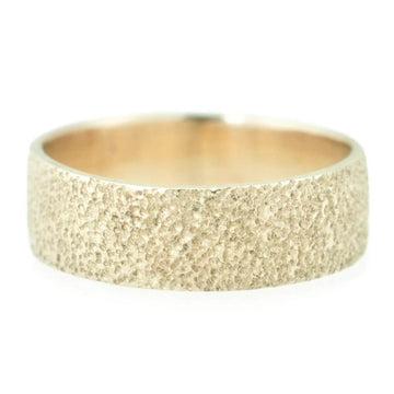 Textured Wide Band - 14k Gold