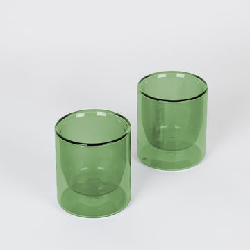 Double-Wall Verde Glass Set