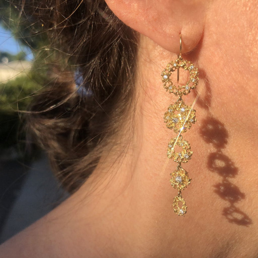Galaxy Earrings in 14ky Gold