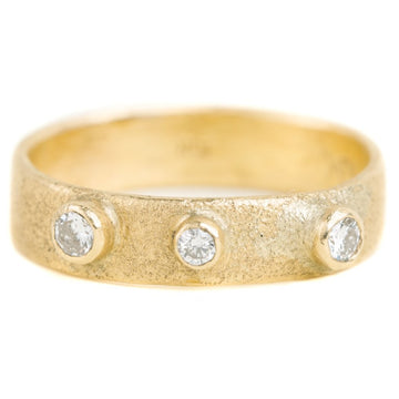 Golden Terra Band - 18k Gold + Reclaimed Diamonds