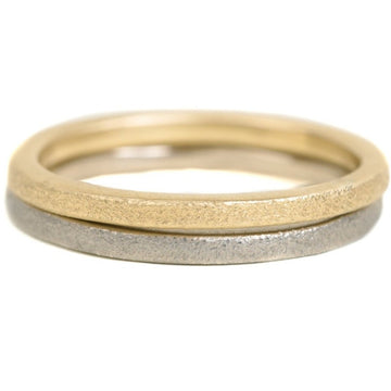 Sparkled Stacker - 18k Gold, 14kpw Gold