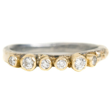 Organic Princess Band - 18k Gold + Reclaimed Diamonds