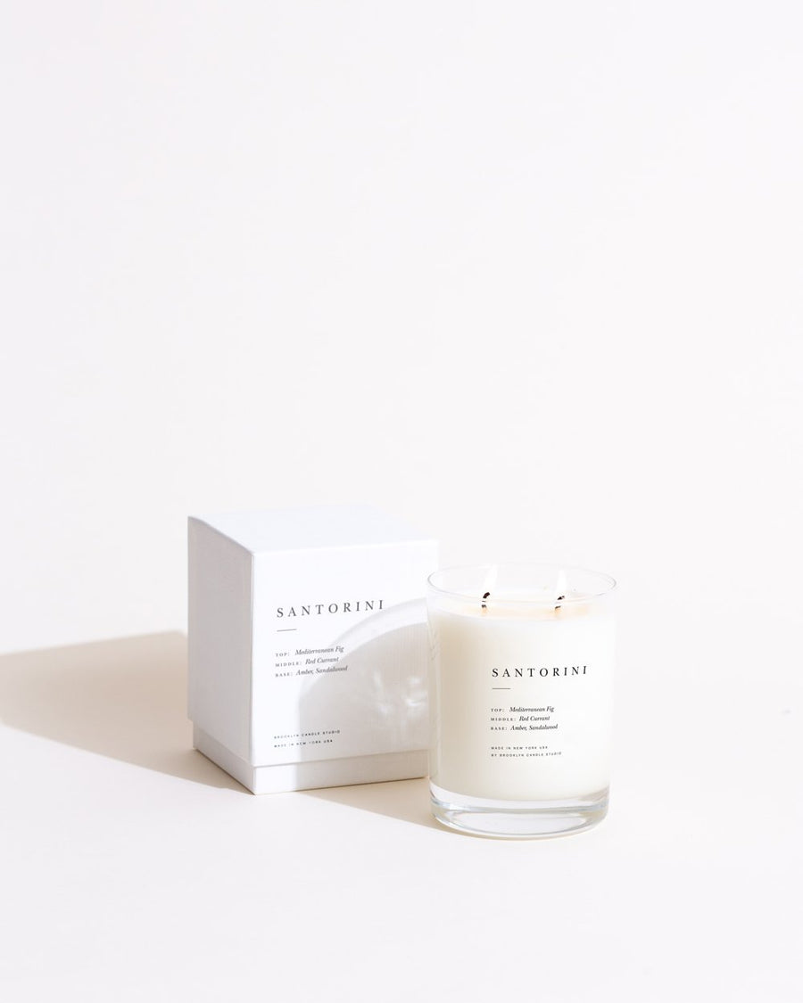 Escapist Boxed Candle by Brooklyn Studio in Santorini - Fig, Red Currant, Amber, Sandalwood