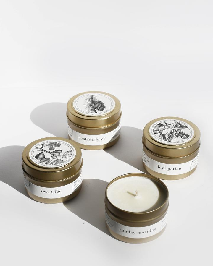 Rose Botanica Gold Travel Candle
