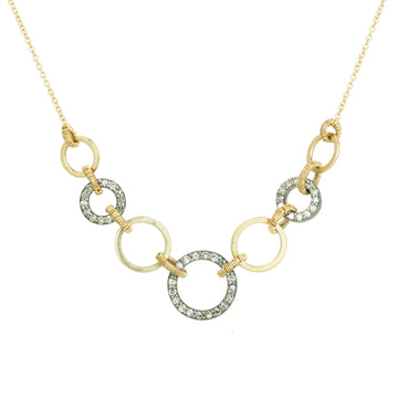 Gold Kelp Necklace - 18k Gold on 14k Gold Chain