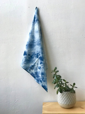 Organic Cotton Bandana Watercolor Dyed
