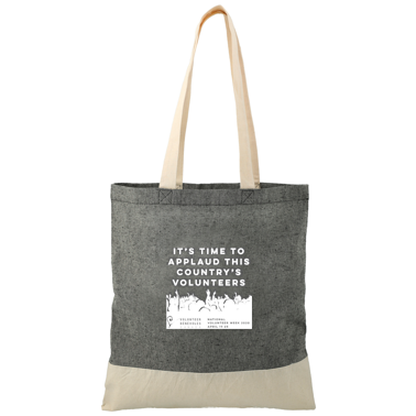 Recycled Cotton Twill Tote (Billingual) - Le sac fourre-tout (bilingue)