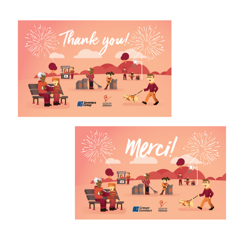 NVW Thank You Cards (Bilingual -10 pk)  Cartes de remerciement SAB (bilingue 10-pk)