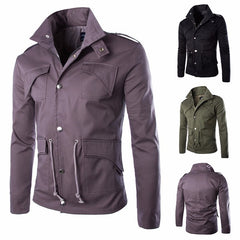 Slim Fit Cotton Military Jacket