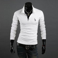 Men's Long Sleeve Casual Polo