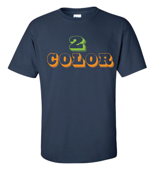 12 Custom T-Shirts (2 Color Design)