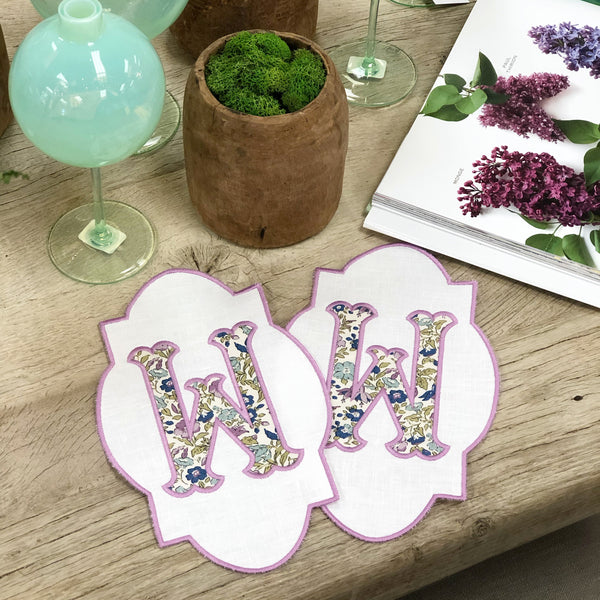 Liberty London Single Initial Cocktail Napkin (Set of Four)