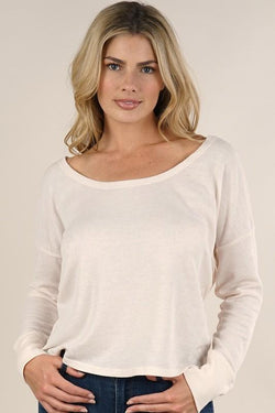 LOVESTITCH - LONG SLEEVE OPEN BACK THERMAL | BLUSH - The Cabana