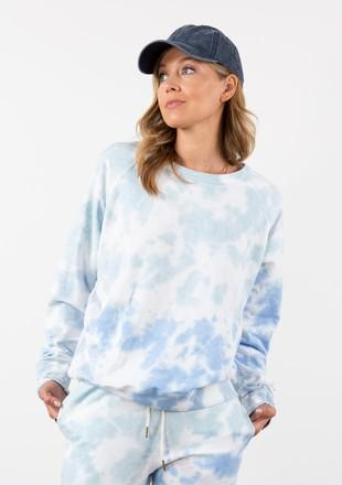 LOVESTITCH - FRENCH TERRY PULLOVER SWEATER | OFF WHITE/SKY - The Cabana