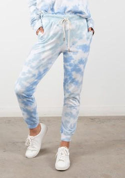 LOVESTITCH - FRENCH TERRY JOGGER | OFF WHITE/SKY - The Cabana