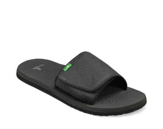 SANUK MENS BEER COZY SLIDE BLACKOUT