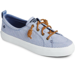 SPERRY - CREST VIBE LINEN MINI CHECK | BLUE/WHITE - The Cabana