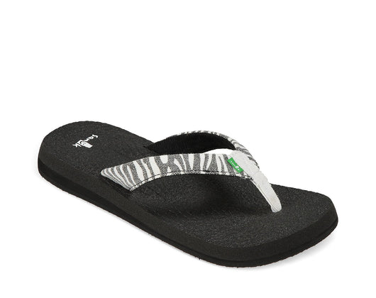 SANUK WOMENS YOGA WILDLIFE ZEBRA