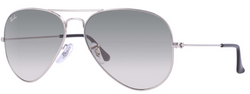RAYBAN AVIATOR LIGHT GREY GRADIENT