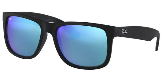 RAYBAN - JUSTIN - BLACK RUBBER / BLUE LENS - The Cabana