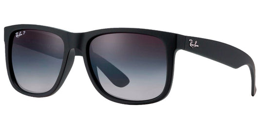 RAYBAN - JUSTIN - BLACK RUBBER / GREY - POLARIZED - The Cabana