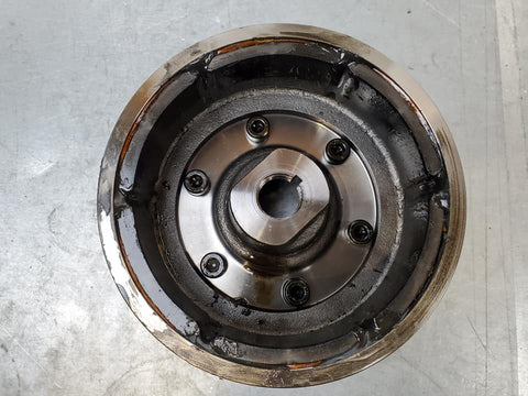03 sv1000 flywheel with jbweld fix 2003+