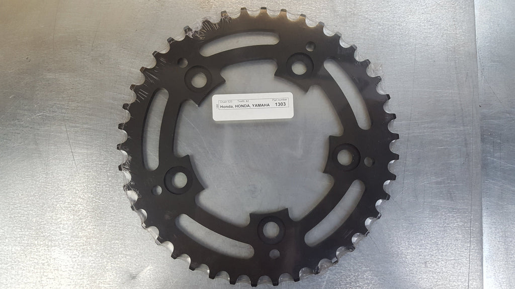 #1303-42T Rear Sprocket - CBR600 CBR900 R1 R6 - 520 Pitch Conversion - Hard Anodized Aluminum