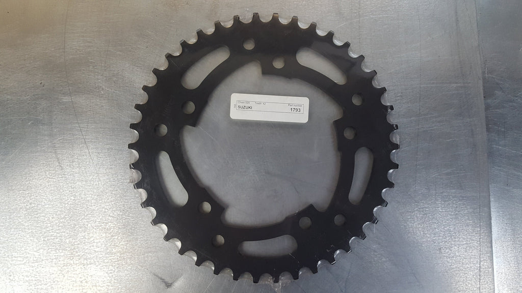 #1793-42T Rear Sprocket - GSXR600 GSXR1000 GSXR750 Bonneville Thruxton - 520 Pitch Conversion - Hard Anodized Aluminum