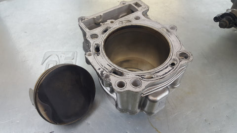 rear cylinder and piston sv1000 2003+