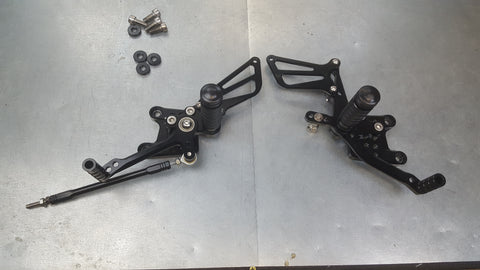 aftermarket rearset pair sv650 99-09