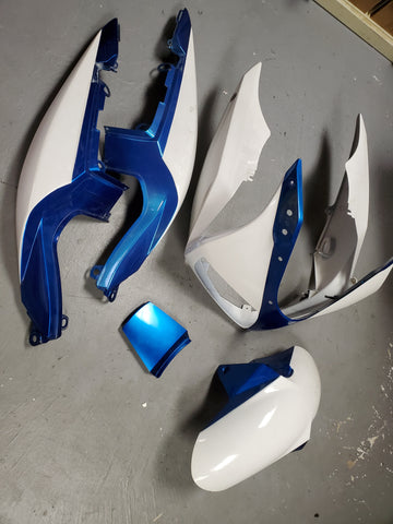 Bodywork fairing set yhj napoleon + white paint 2g 03+ sv650/sv1000