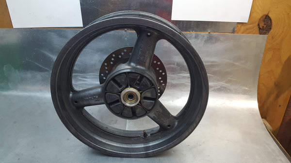 gray rear wheel w rotor 1g sv650 99-02