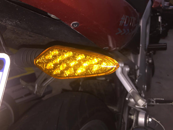 New - LED DOT Turn Signals - Amber / Yellow Lens