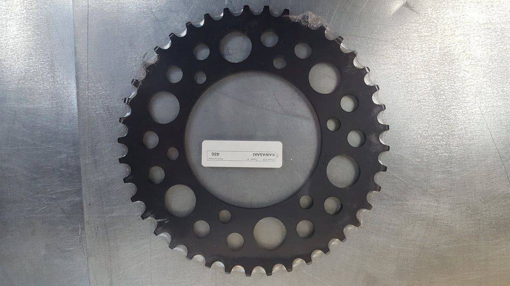 #486-49T Rear Sprocket - Ninja 250 300 EX250R EX300 EX400, R3. R1 R6 GSXR600 GSXR1000 520 Conversion - 520 Pitch -  Hard Anodized Aluminum