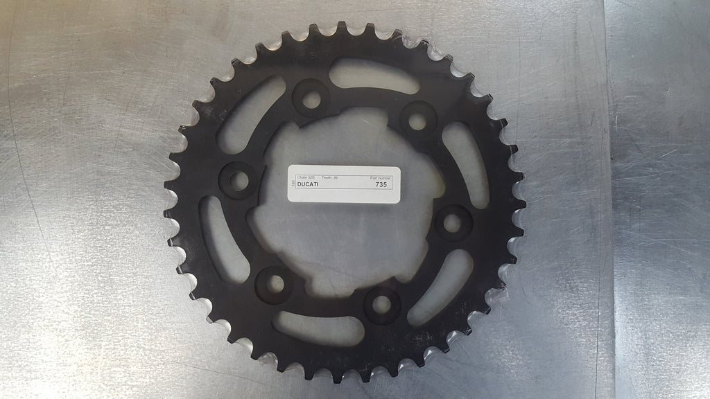 #735-39T Rear Sprocket - Ducati 600 Monster, 620, Multistrada,  900SS - Hard Anodized Aluminum