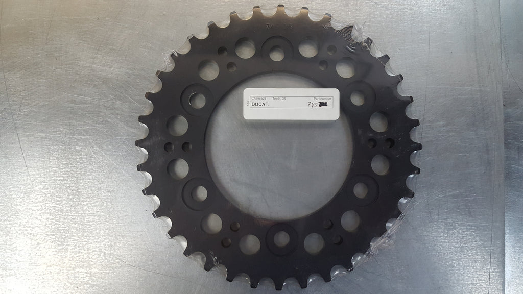 #745-36T Rear Sprocket - Ducati 1000 Monster, Paul Smart, SportClassic, 916, 944, 992, 996ST - Hard Anodized Aluminum